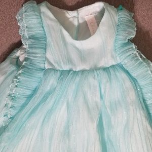 Toddler sparkly blue party dress
